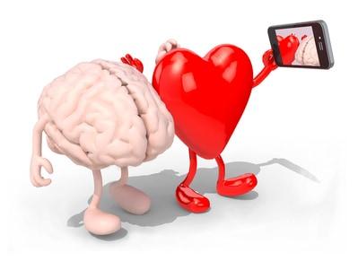 Hirn-Herz-Selfie der Selbstentwicklung